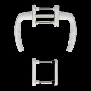 Hoppe atlanta aluminyum beyaz renk kapı kolu