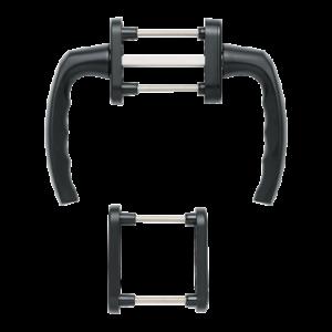Hoppe atlanta aluminyum mat siyah renk kapı kolu