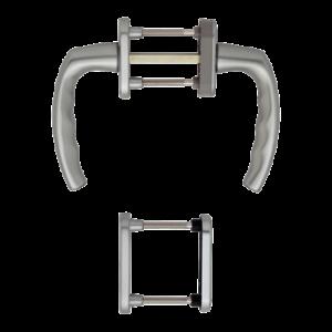 Hoppe atlanta aluminyum gümüş renk kapı kolu