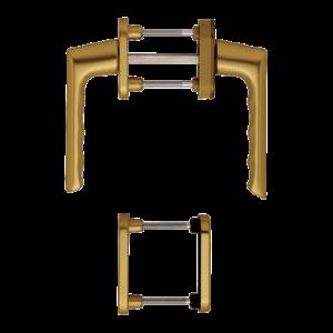 Hoppe brest aluminyum bronz renk kapı kolu