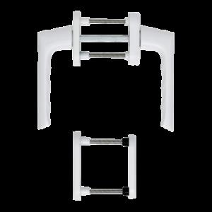 Hoppe brest aluminyum beyaz renk kapı kolu