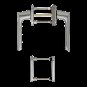 Hoppe brest aluminyum gümüş renk kapı kolu
