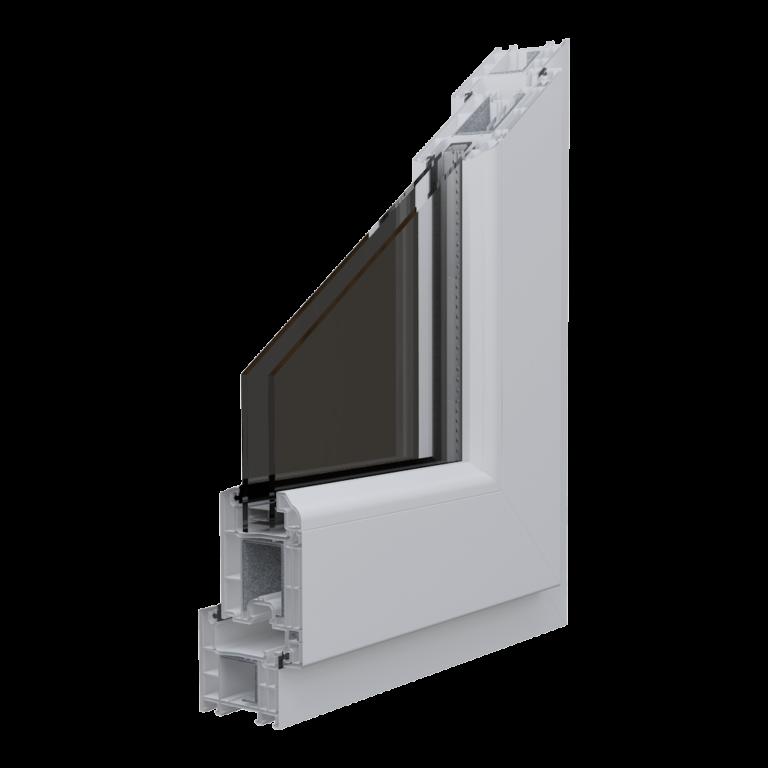 Egepen deceuninck, everestmax 60mm serisi beyaz renkli PVC pencere ve kapı profili