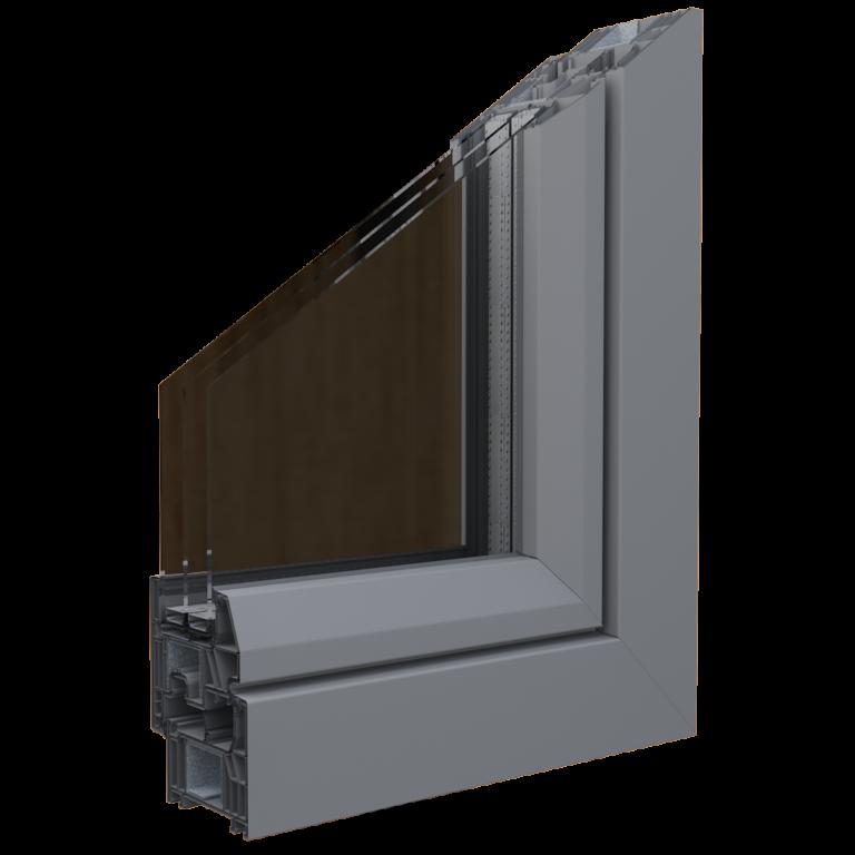 Egepen deceuninck, legend serisi vizon renkli pvc pencere ve kapı profili