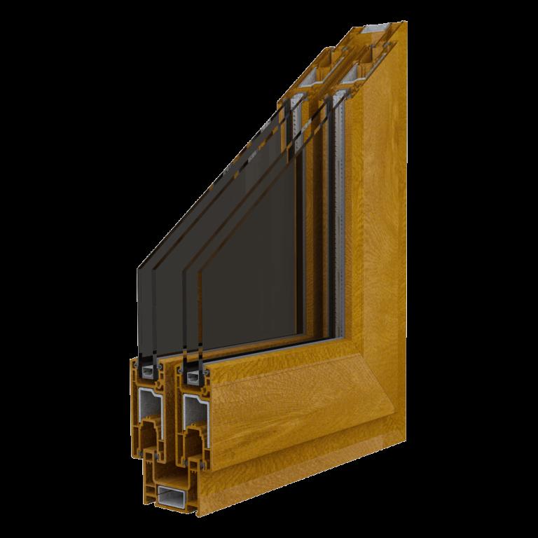 Egepen deceuninck, maestro sürme serisi altınmeşe renkli iki raylı pvc pencere ve kapı profili