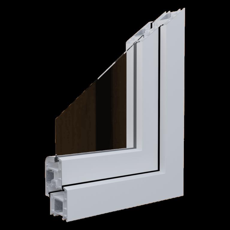 Egepen deceuninck, maestro rebel 60mm serisi beyaz renkli pvc pencere ve kapı profili
