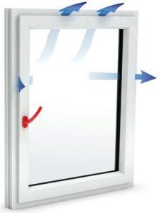 Mikroventilasyon havalandırma aksesuarı uygulanmış pencere