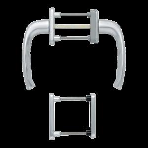 Hoppe newyork aluminyum gümüş renk kapı kolu