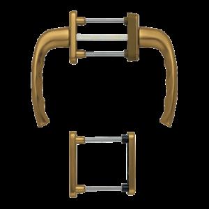 Hoppe newyork aluminyum bronz renk kapı kolu