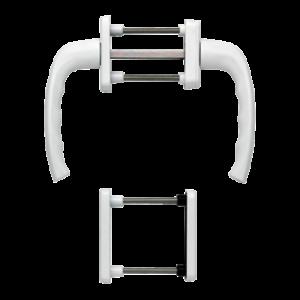 Hoppe newyork aluminyum beyaz renk kapı kolu