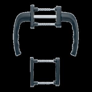 Hoppe newyork aluminyum mat siyah renk kapı kolu