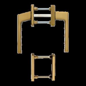 Hoppe toulon aluminyum bronz renk kapı kolu