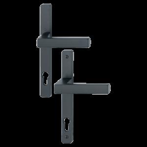 Hoppe toulon aluminyum mat siyah renk kapı kolu