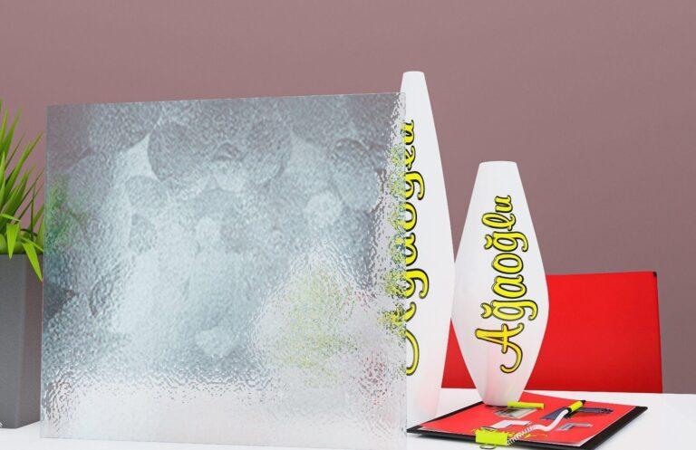 Çakıl Dekoratif Buzlu Cam