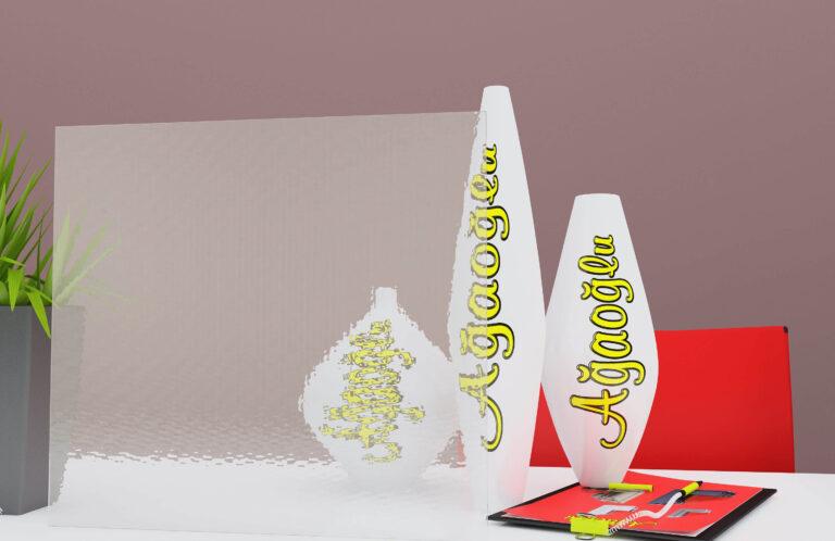 Çamdalı Dekoratif Buzlu Cam