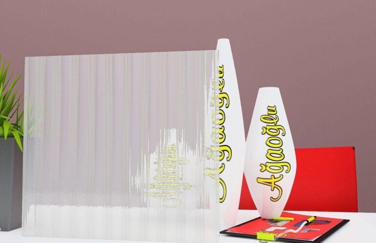 Çizgi Dekoratif Buzlu Cam