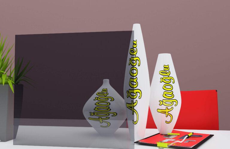 Füme Dekoratif Buzlu Cam