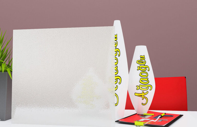 Mandalin Dekoratif Buzlu Cam