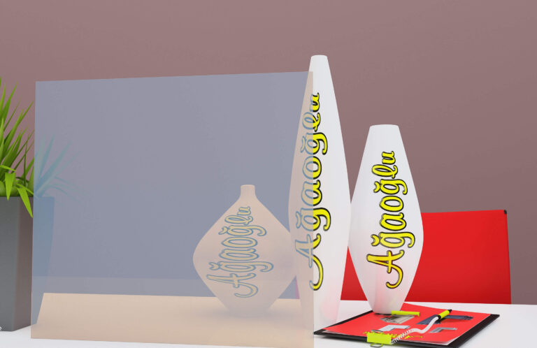 Tentesol Turkuaz Dekoratif Buzlu Cam