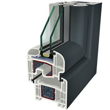 Antracite ral 7016 Folyo Kaplama Agaoglu WinLIFE Gealan Pvc Pencere Kapi Sistemleri