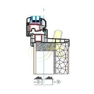 Fransa french fr monoblok kasa montaj damlalikli pencere kanat profili Agaoglu Egepen Deceuninck Gealan PVC pencere kapi sistemleri