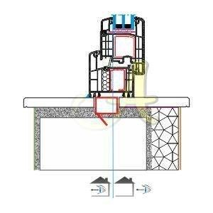 L kasa kapi disa acilim montaj detayı Agaoglu Egepen Deceuninck Gealan PVC pencere kapi sistemleri