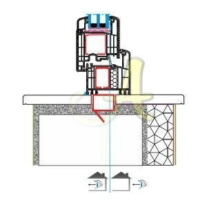 L kasa kapi ice acilim montaj detayı Agaoglu Egepen Deceuninck Gealan PVC pencere kapi sistemleri