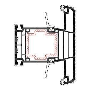 Orta Kayıt T Kasa Pvc pencere Profili Agaoglu Egepen Deceuninck Gealan PVC pencere kapi sistemleri