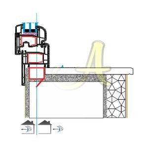 Pervazli kasa ice acilim pencere montaj detayi Agaoglu Egepen Deceuninck Gealan PVC pencere kapi sistemleri