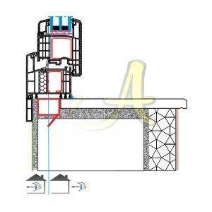 Pervazli kasa montaj disa acilim kapi kanat profili Agaoglu Egepen Deceuninck Gealan PVC pencere kapi sistemleri