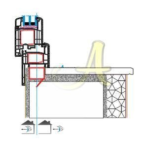 Pervazli kasa ice acilim kapi montaj detayi Agaoglu Egepen Deceuninck Gealan PVC pencere kapi sistemleri