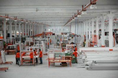 Ağaoğlu PVC pencere fabrikası iç görünüm