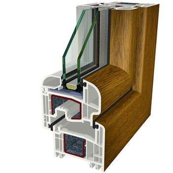 Rovere dorato Folyo Kaplama Agaoglu WinLIFE Gealan Pvc Pencere Kapi Sistemleri