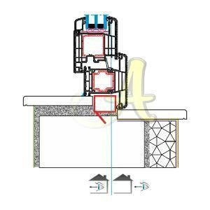 T kasa kapi ice acilim montaj detayı Agaoglu Egepen Deceuninck Gealan PVC pencere kapi sistemleri