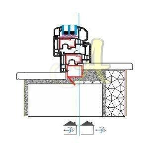 Z kasa ice acilim pencere montaj detayı Agaoglu Egepen Deceuninck Gealan PVC pencere kapi sistemleri