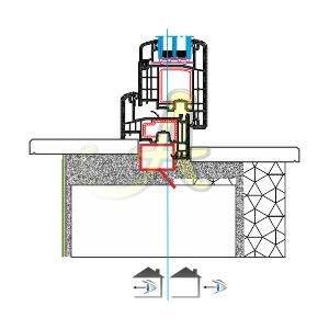 Z kasa disa acilim kapı montaj detayı Agaoglu Egepen Deceuninck Gealan PVC pencere kapi sistemleri