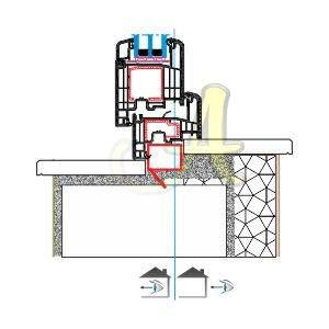 Z kasa ice acilim kapı montaj detayı Agaoglu Egepen Deceuninck Gealan PVC pencere kapi sistemleri